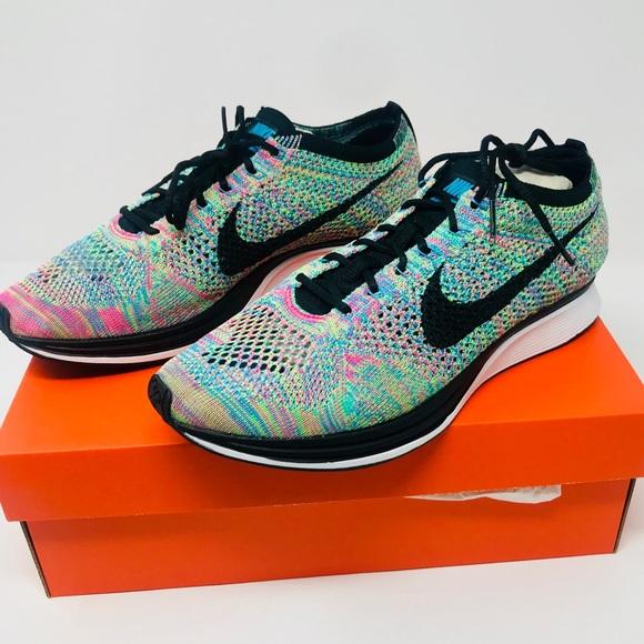 2b801f8f71370 Nike Flyknit racer multicolor